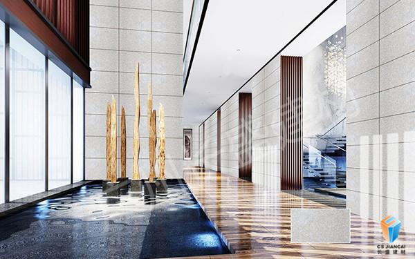 长盛_石材铝蜂窝复合板大厅效果图