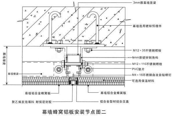 防腐蚀铝蜂窝板安装示意图