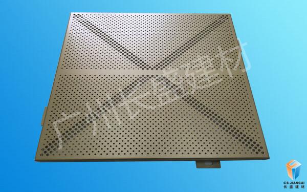 冲孔铝单板正面图