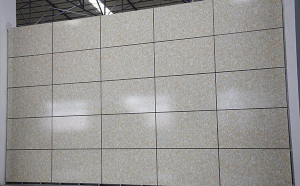仿石材铝蜂窝板样板墙