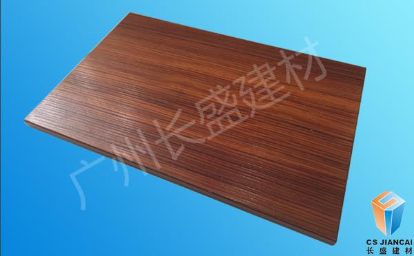 仿红胡桃木木纹铝蜂窝板正面