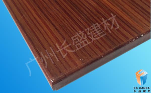 3D仿红胡桃木木纹铝蜂窝板边角