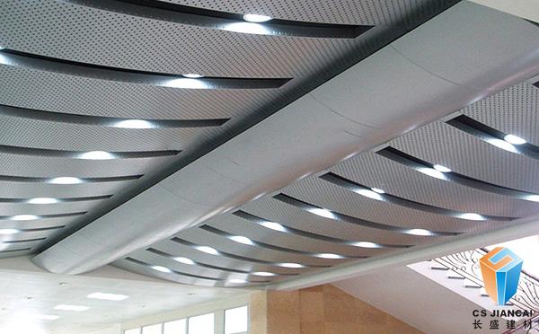 冲孔弧形铝单板吊顶