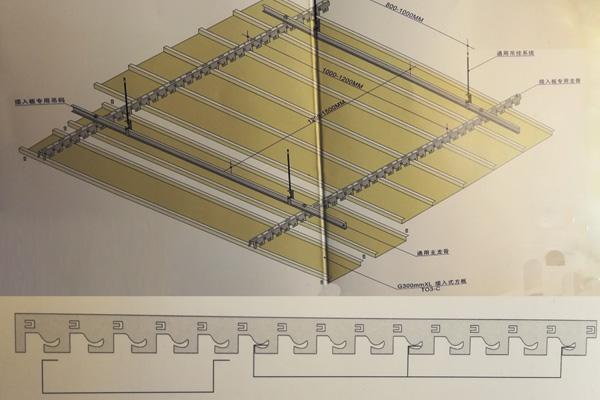 勾搭式瓦楞铝板安装节点
