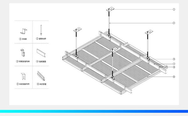铝瓦楞板安装节点图