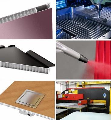 仿石纹铝蜂窝板生产工艺