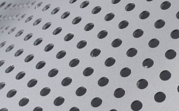 冲孔铝单板圆孔细节图