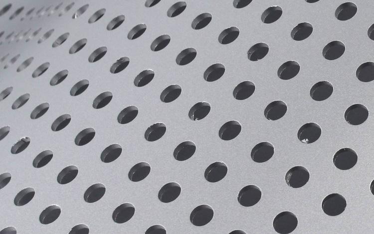 弧形冲孔铝单板圆孔细节