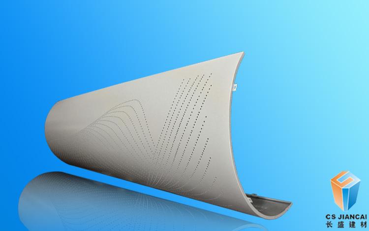 弧形冲孔铝单板2