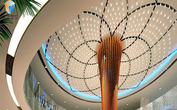 弧形冲孔铝单板吊顶2