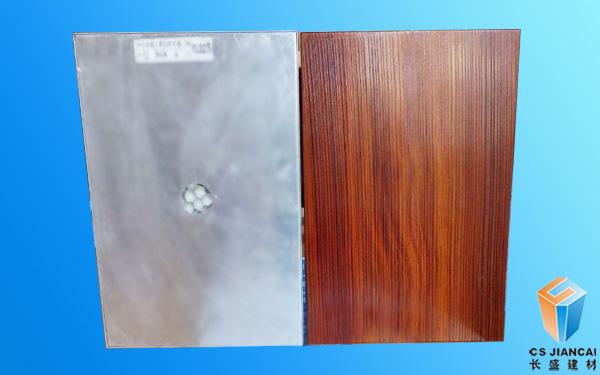 金丝红檀木纹铝蜂窝板
