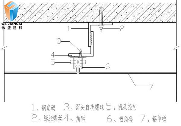 氟碳铝单板安装结构图1