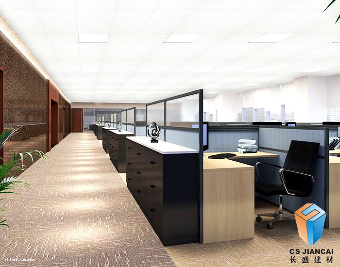 铝扣板吊顶办公室案例