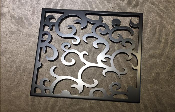 黑色雕花铝单板